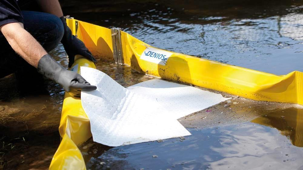 DENSORB oil barrier ECOLINE 250, 10 m, f. small inshore waters, freebd 100 mm, immersn depth 150 mm