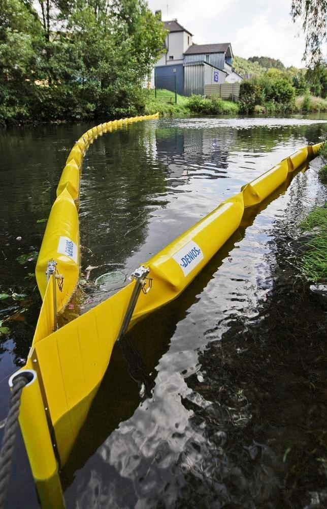 DENSORB oil barrier ECOLINE 250, 5 m, f. small inshore waters, freebd 100 mm, immersn depth 150 mm