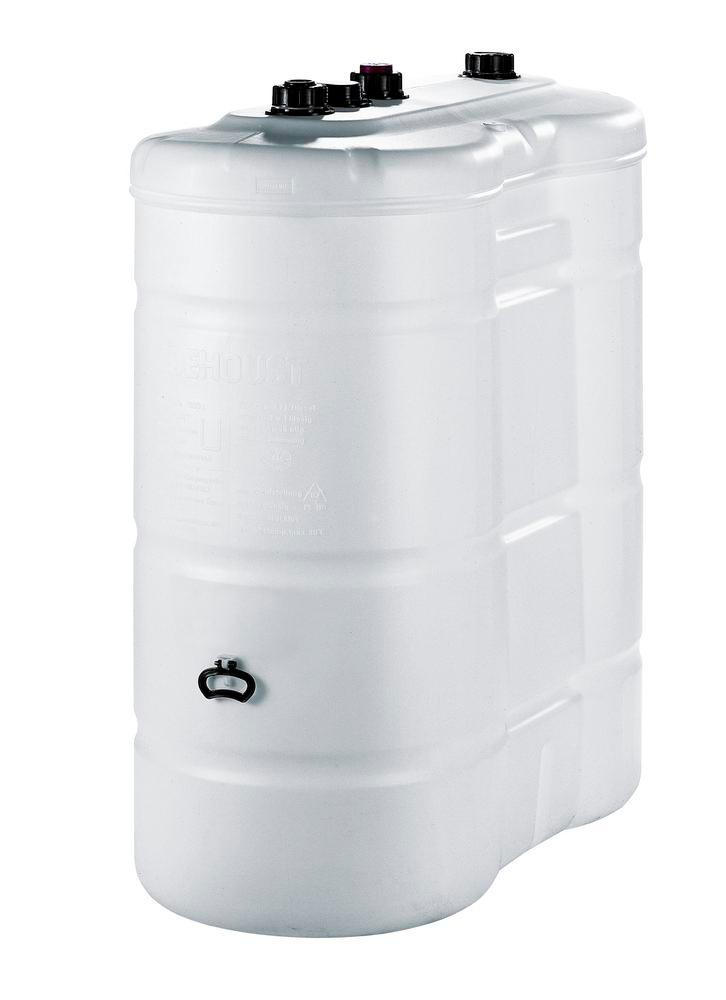 Double Wall Plastic Tank with Level Indicator and Valve,1.100 litre