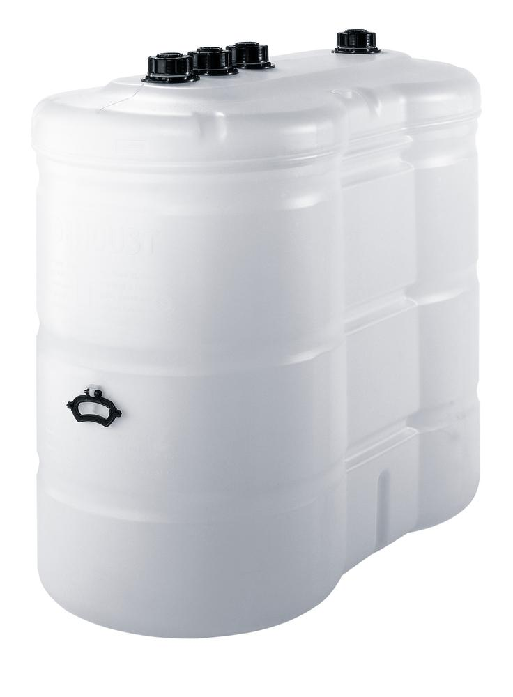 Double Wall Plastic Tank with Level Indicator and Valve,1.500 l - 1