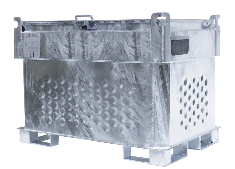 Double-walled mobile diesel tank KI- D, 450 litres, with 230 V pump and accessories - 1