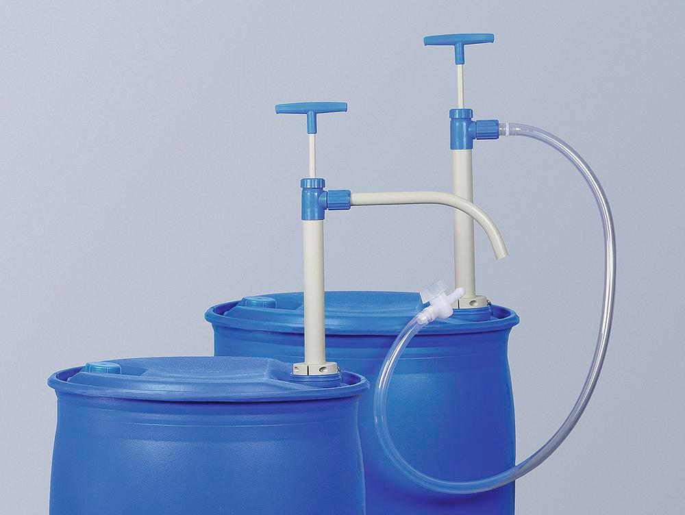 Drum pump P 10, polypropylene, with extension nozzle, 1000 mm submersion depth