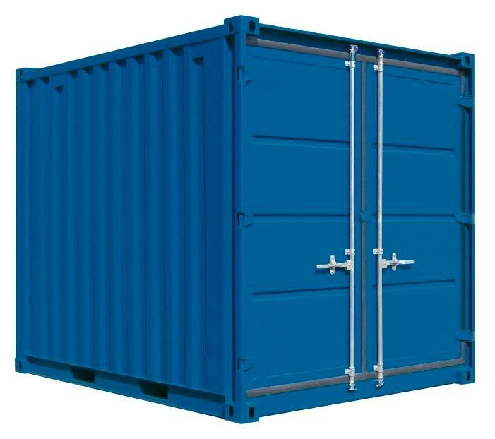 Environmental container UC-H 230, painted, with wooden floor