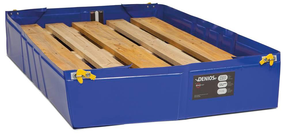 Folding reusable leakage sump 1240 x 1240 mm, capacity 300 litres - 1