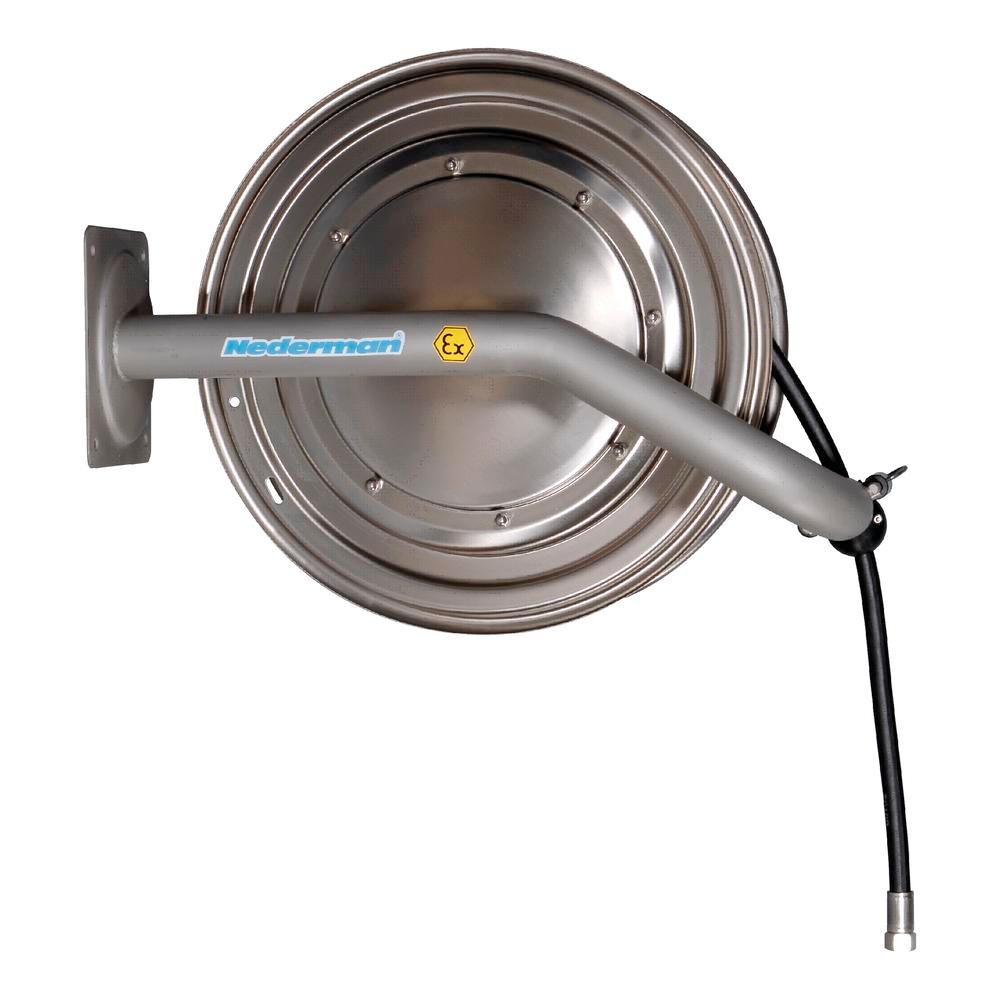 """Hose reel EX-H05, without hose, for Ø 1/2"""" - 25m hose, stainless steel, e-polished, Atex - 1"""