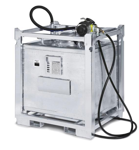 Lubricant container 1000 litres with pump, hose, nozzle and digital counter - 1