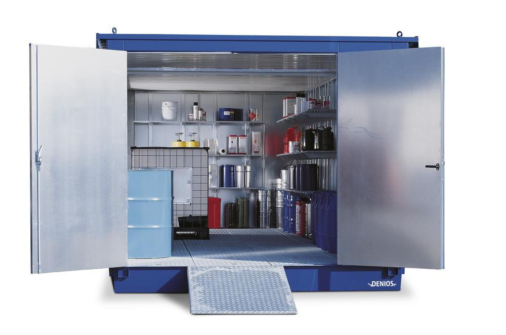 Module container MC 3320-k2, ISO, galvanized. + painted, with 2 wing doors on the short side
