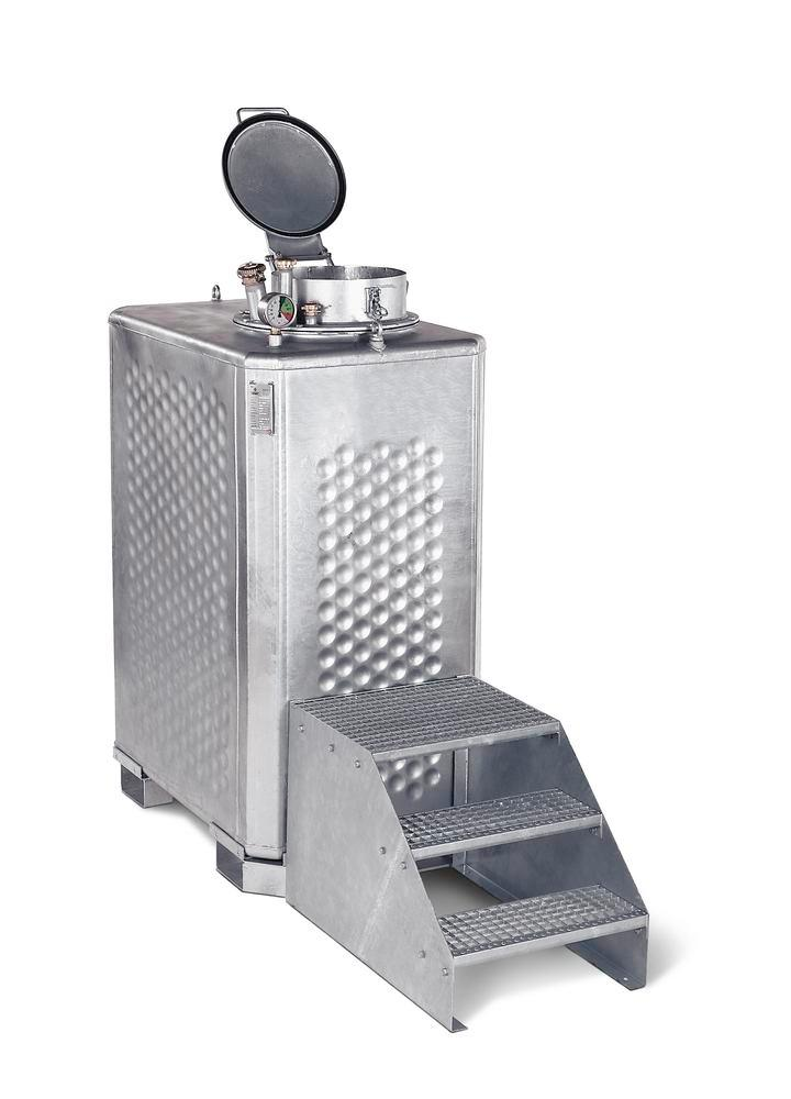 Multi collect container, galv., for liquids WGK 1-3 and flashpoint above 55° C, 1300 litre