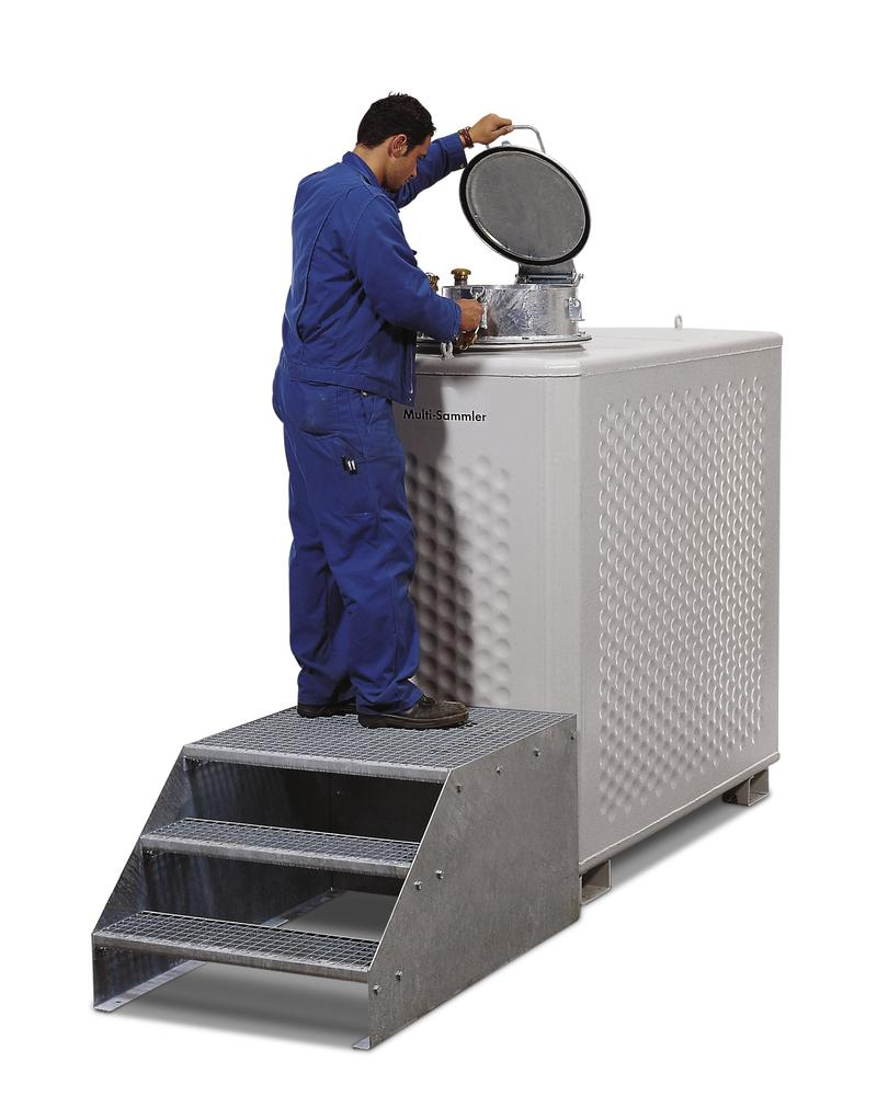 Multi collect container, painted, for liquids WGK 1-3 or flashpoint above 55° C, 1300 litre - 2