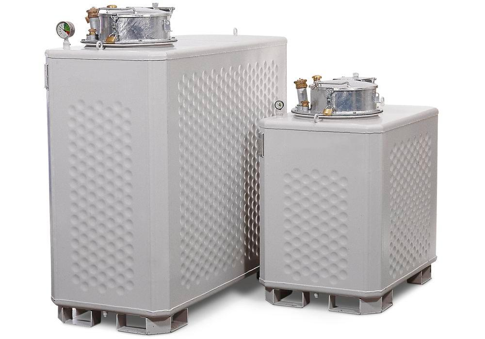 Multi collect container, painted, for liquids WGK 1-3 or flashpoint above 55° C, 1300 litre