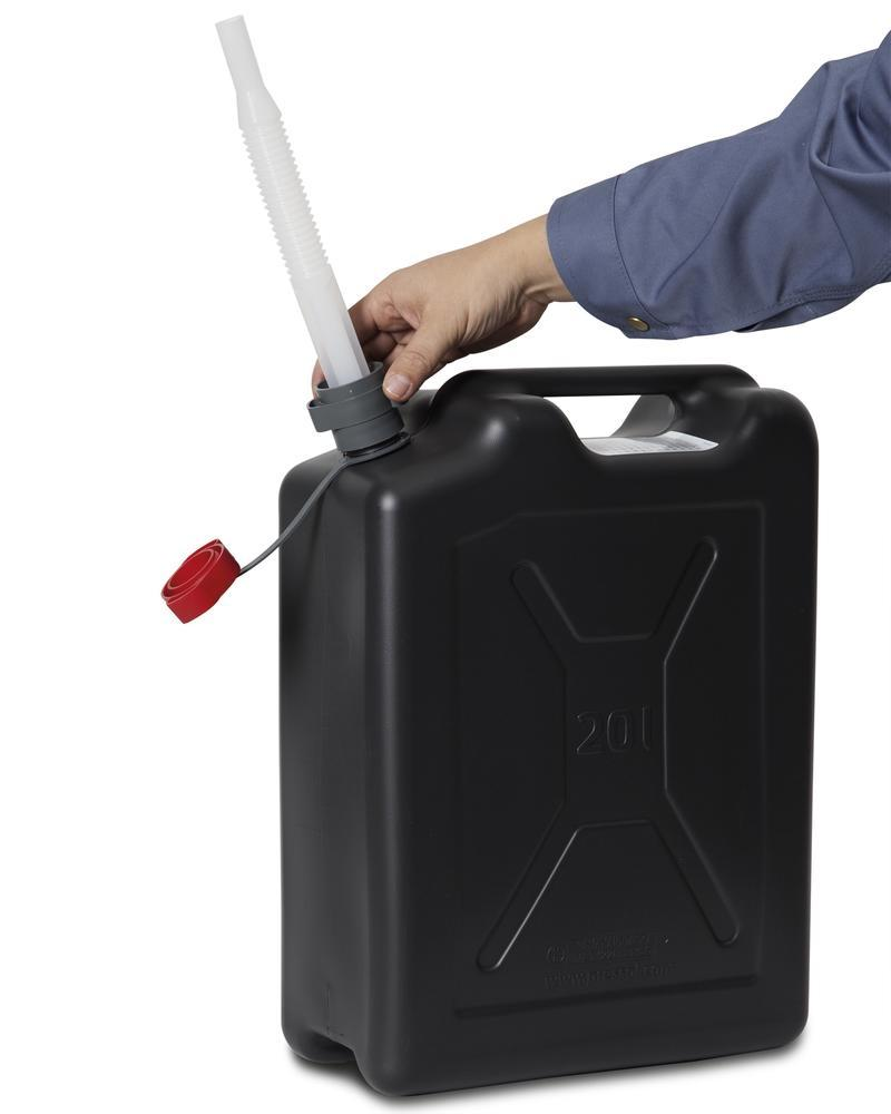 Plastic safety canister, 20 litres volume - 4