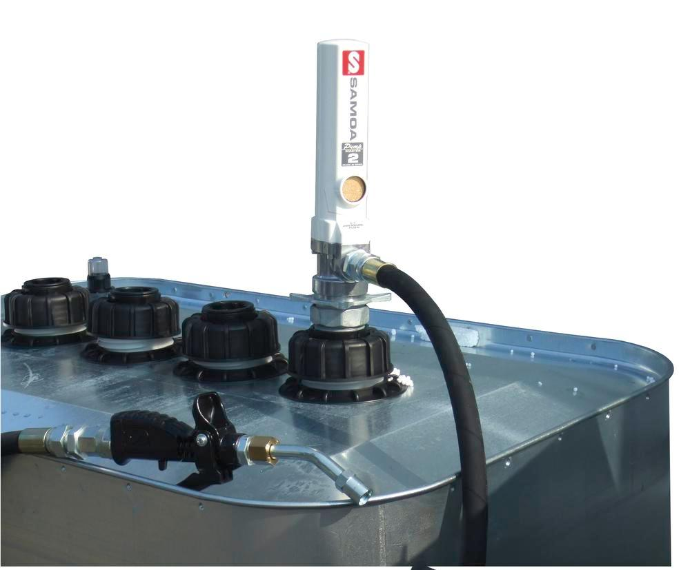 Pneumatic oil pump DP5 F, for tanks, transfer rate approx. 17 litres /minute - 1