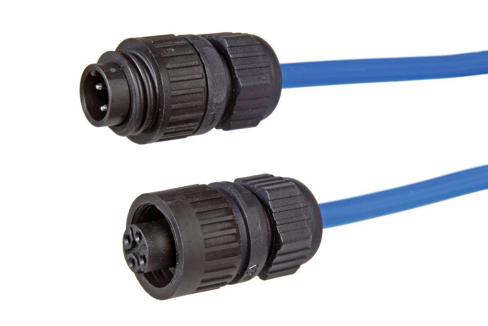Replacement spiral cable 15 m, for earthing systems with monitoring, 2-core, blue, 2 x high-speed co