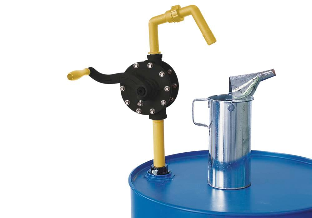 Rotation Pump for acids, alkalis and aqueous solutions, Yellow