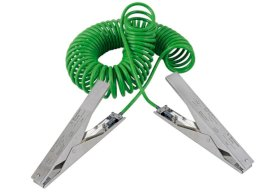 Spiral earthing cable with 2 st. steel earthing clips heavy duty 235 mm, 3 m pull-out length, ATEX-w280px