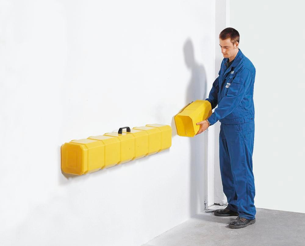 Storage box for sealant mats to 800 x 800 mm and diameter 850 mm