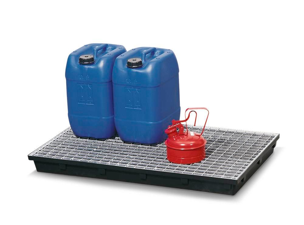 Grid, galvanized, for polyethylene spill tray, 36 litre capacity