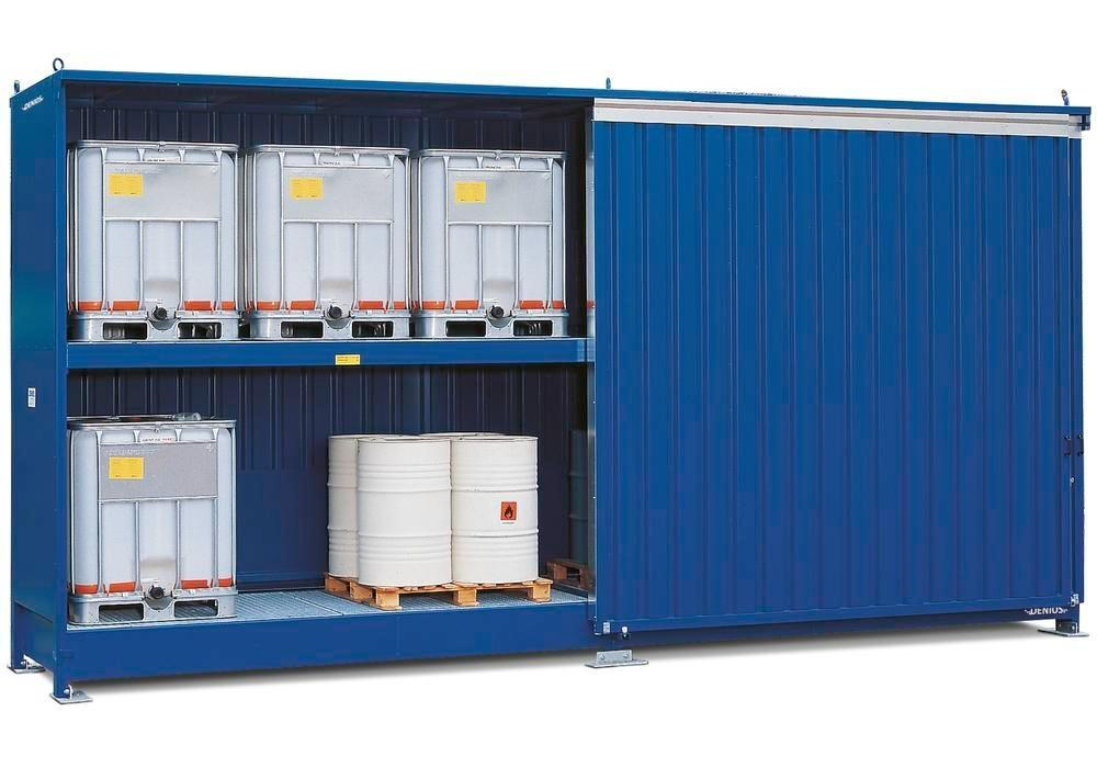 Hazardous materials store SC-K, storage container with shelving for IBCs - 2