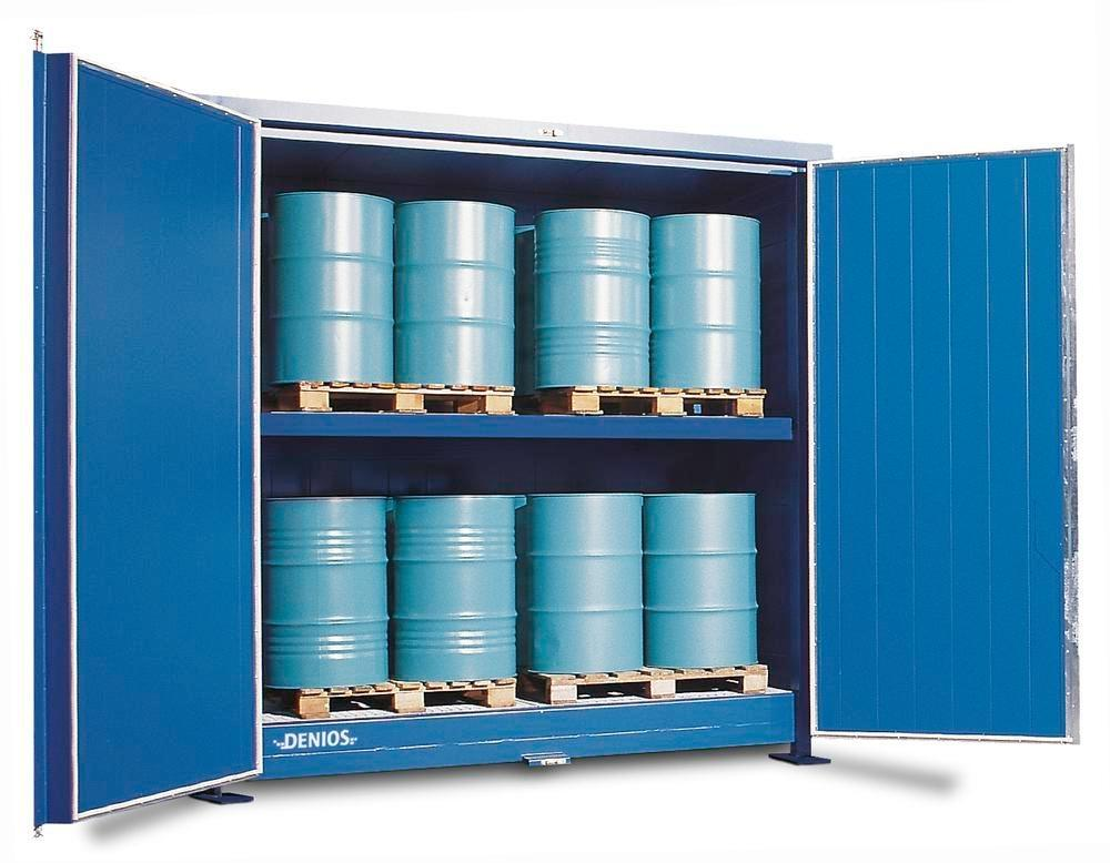 Hazardous materials store SC-K, storage container with shelving for IBCs - 3
