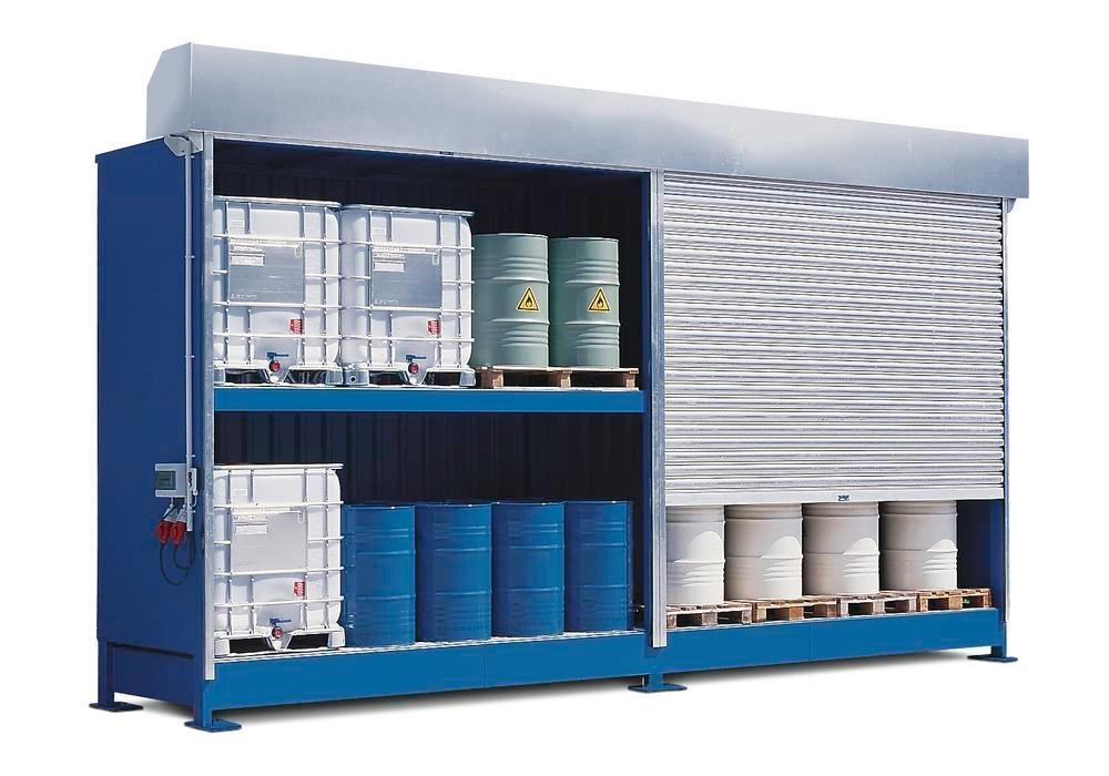 Hazardous materials store SC-K, storage container with shelving for IBCs - 4