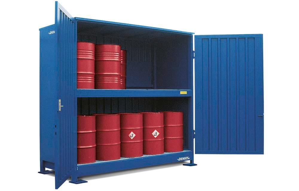 Hazardous materials store SC-K, storage container with shelving for IBCs - 5