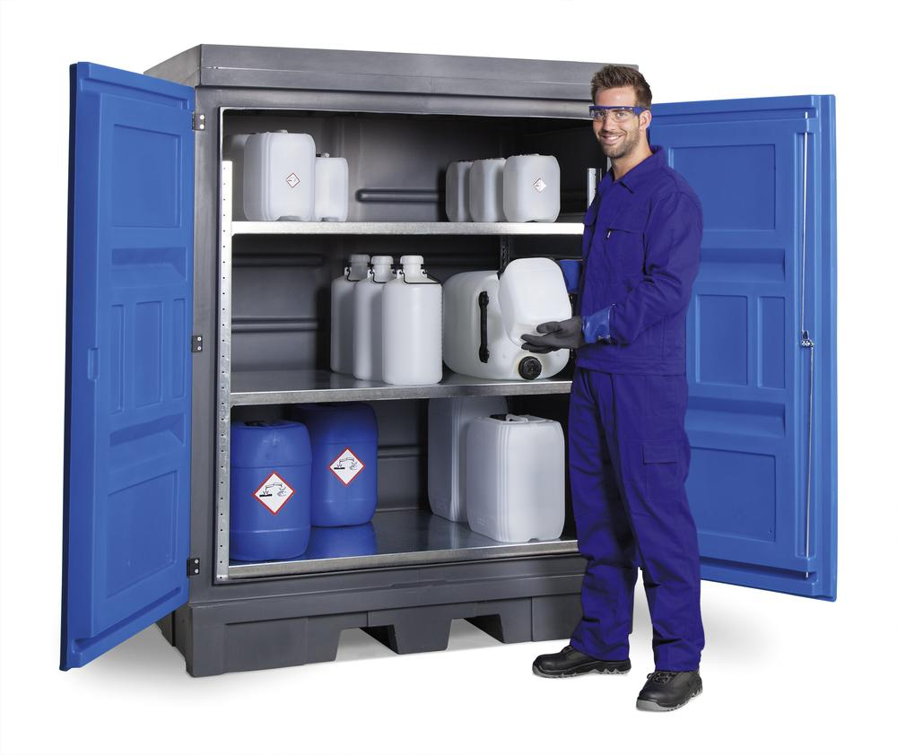 PolySafe Depot D, with steel shelf, for small containers - 1