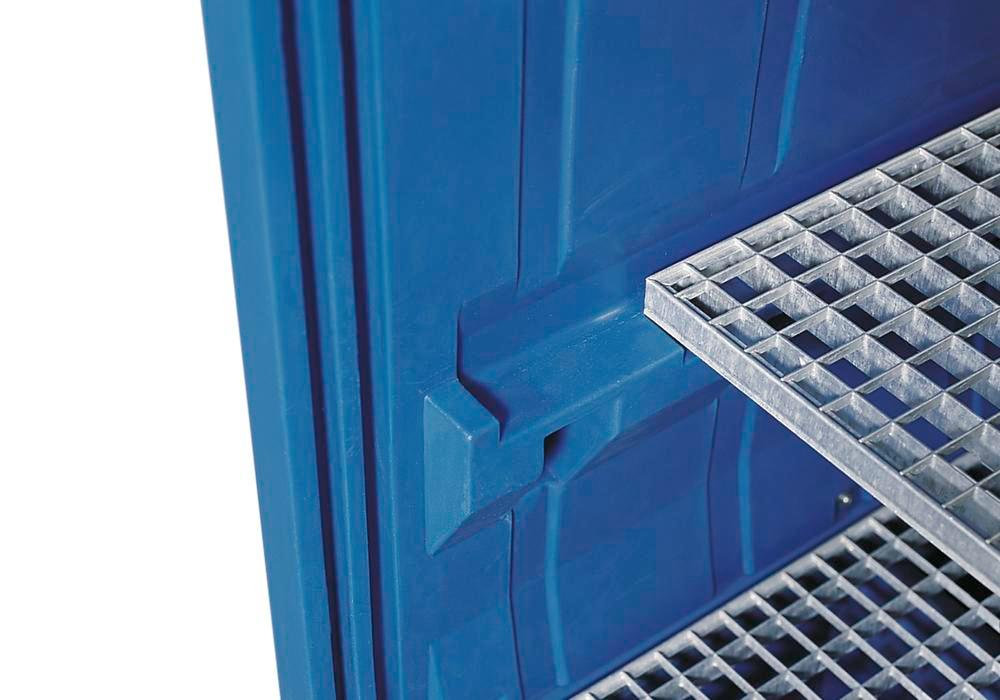 PolySafe depot PSR 8.12 with a galvanized grid and a galvanized grid shelf - 2