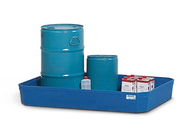 Spill tray for small containers classic-line in polyethylene (PE) without grid, 130 litres