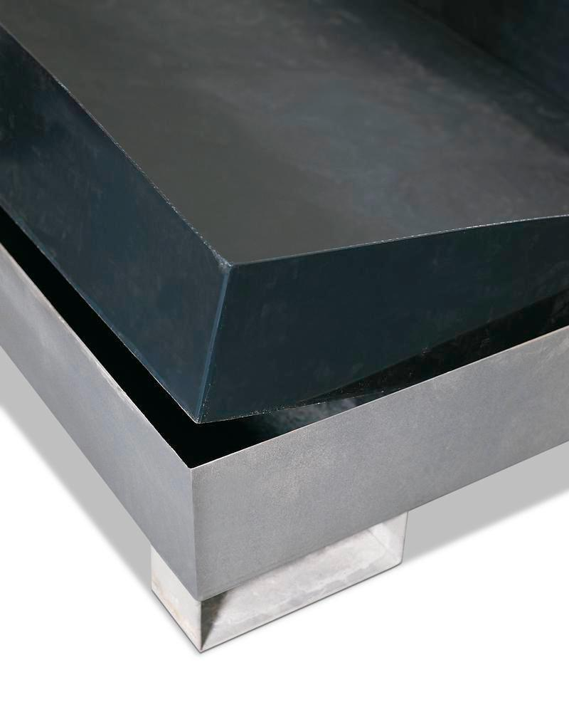 Acid resistant spill pallet insert in polyethylene (HDPE) for spill pallets W x D (mm) = 2680 x 1650