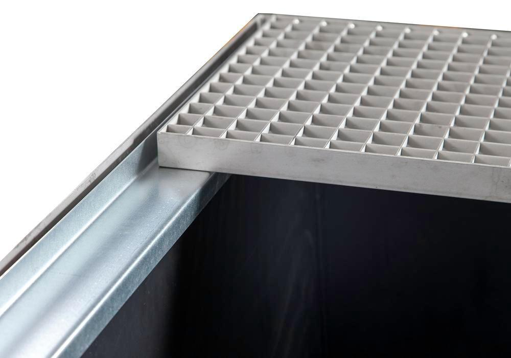 Anti-static spill pallet insert in polyethylene (PE-HD), for spill pallets W x D (mm) = 2200 x 1300