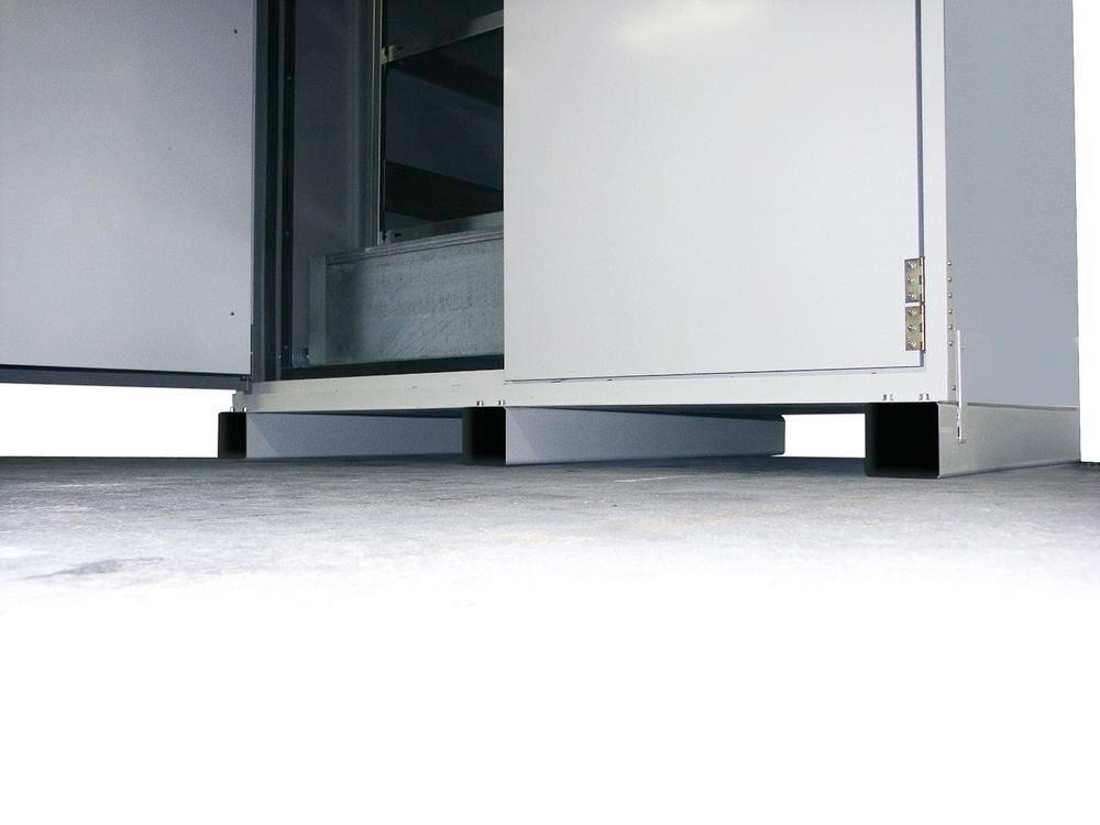 asecos accessible base for drum cabinet VbF 90.2