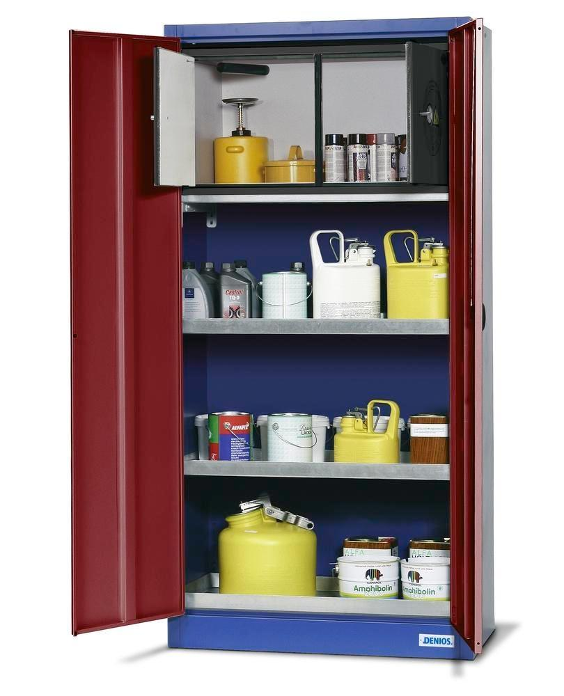 asecos environmental cabinet UWS 19 P with 3 shelves per Stawa-R and safety box
