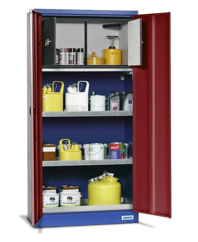 asecos environmental cabinet UWS 19 w 1 floor spill pallet per Stawa-R, 2 spill trays and safety box