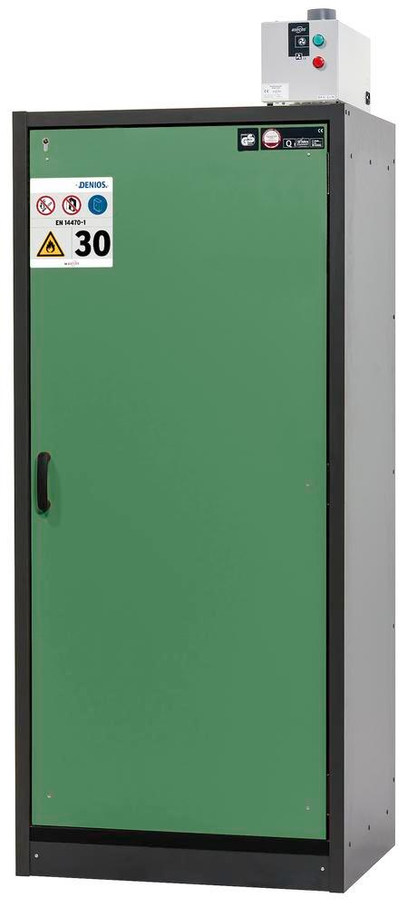 Fire rated hazardous materials cabinet Basis_Line, anthracite/green, 3 shelves, Type 30-93R - 1