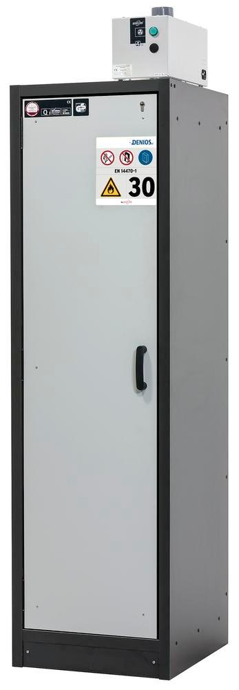 Fire rated hazardous materials cabinet Basis_Line, anthracite/grey, 3 shelves, Type 30-63L - 3