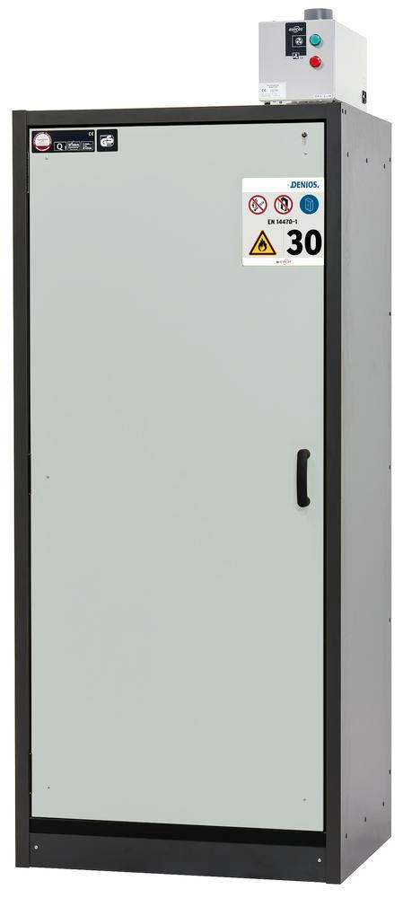 Fire rated hazardous materials cabinet Basis_Line, anthracite/grey, 3 shelves, Type 30-93L - 1
