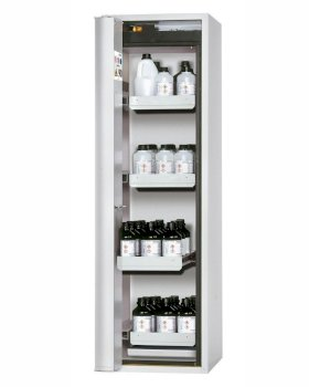 Fire Resistant Safety Cabinet GF-750.4, grey, left hinged door, 4 drawers-w280px