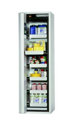 Fire Resistant Safety Cabinet GF-750.6, grey, left hinged door, 6 drawers-w280px