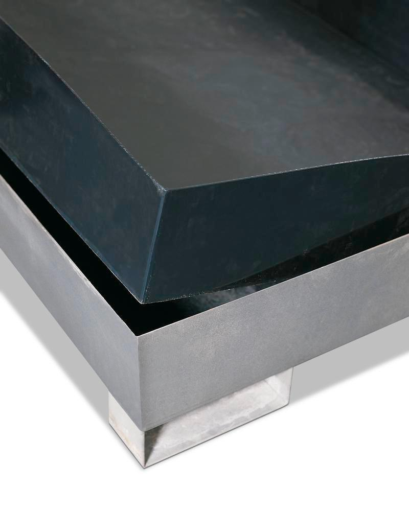Inlay Sump, polyethylene, for pallet racking, 480 litre capacity