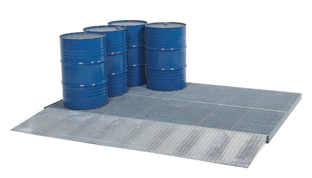 Spill decking classic-line, galvanised, with grid, wheel load 450 kg, 2862x1862x78 - 1
