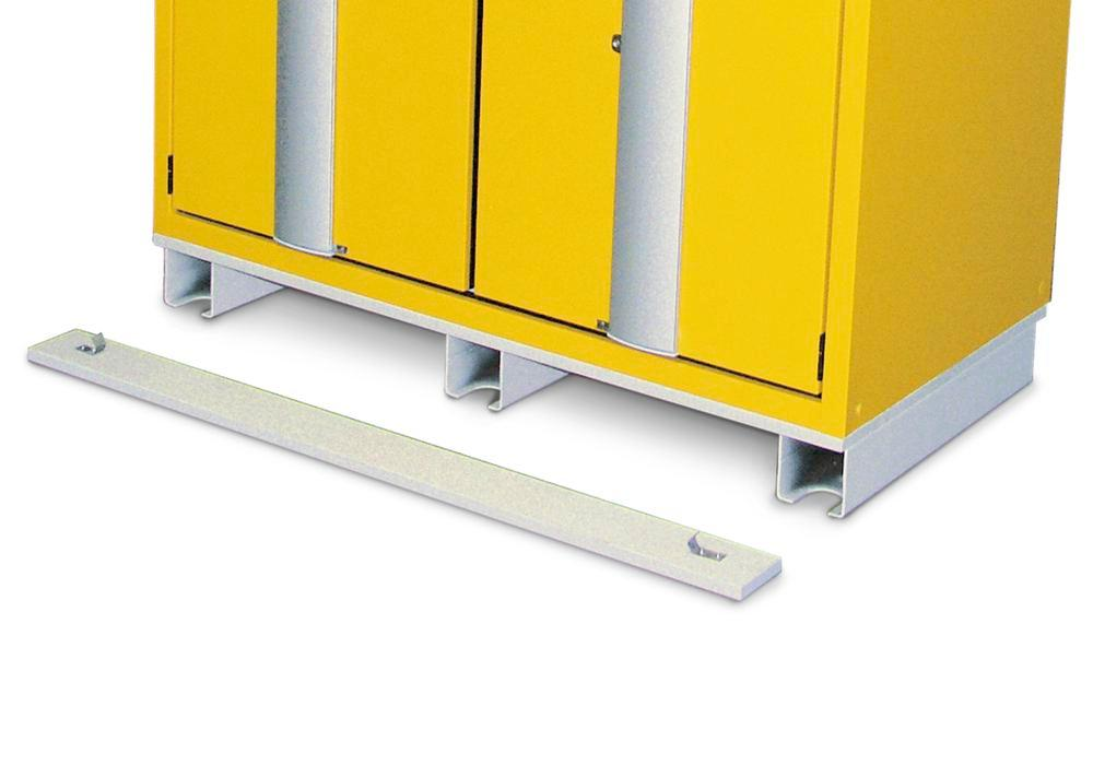 Transport base for hazardous material cabinets, 900 mm wide - 1