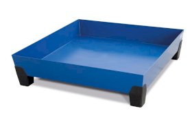 VarioTwin spill pallet, Type TW 204, painted, without grid, for 1 x 205 litre drum-w280px