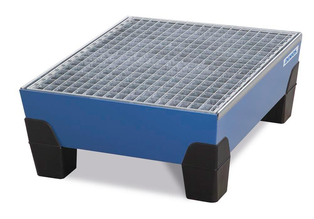 VarioTwin spill pallet, Type TW 62, painted, with grid, for 2 x 60 litre drums - 1