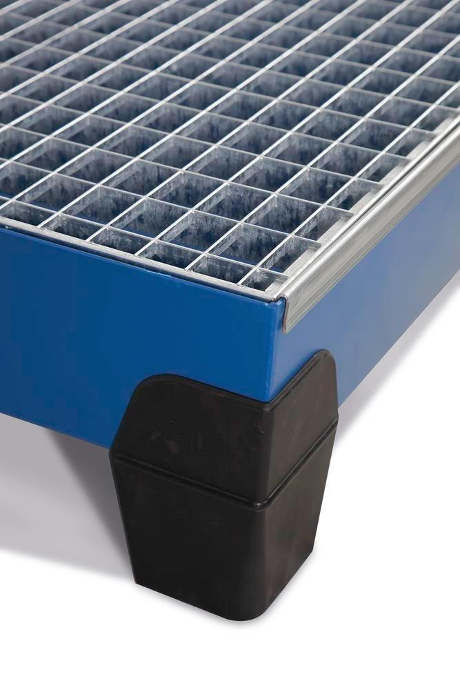 VarioTwin spill pallet, Type TW 62, painted, with grid, for 2 x 60 litre drums - 2