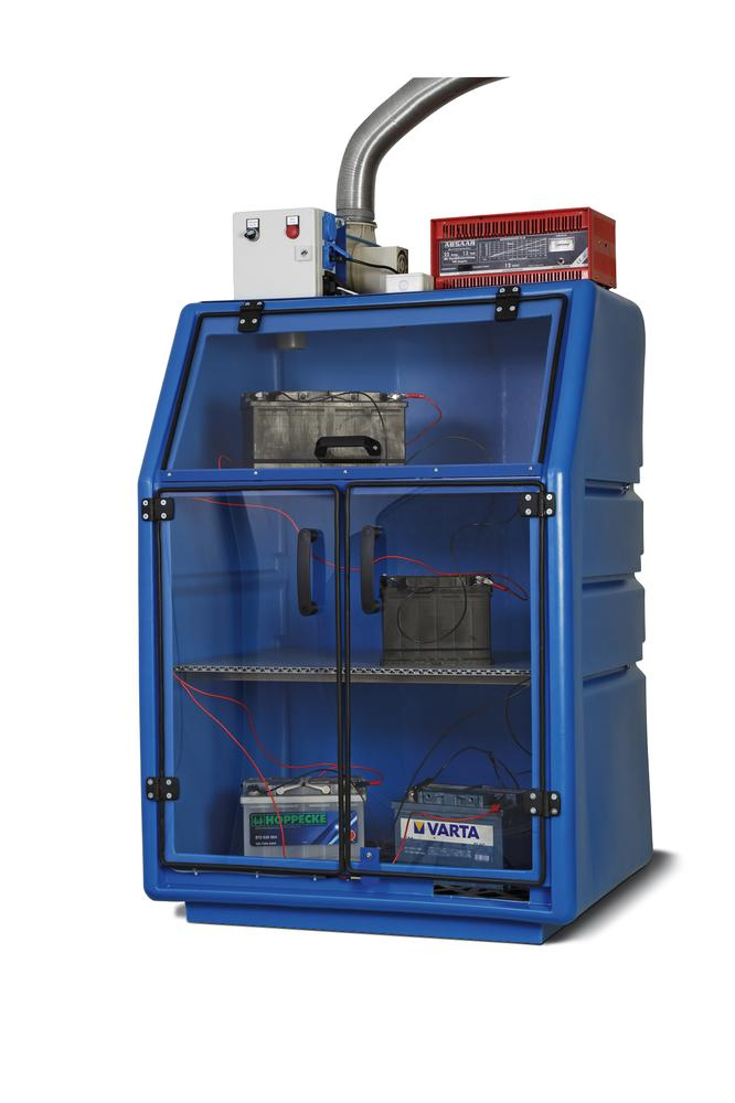 Battery-Charging-Cabinet, blue