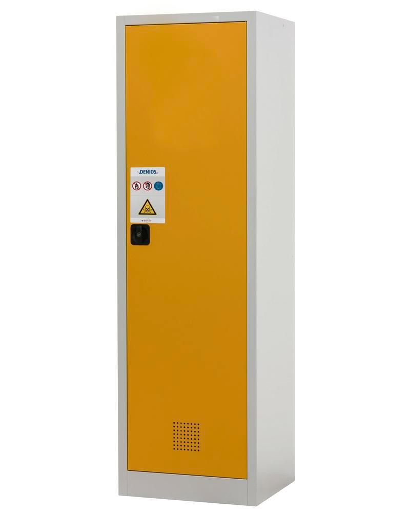 Chemicals cabinet Tough, CS 60-195, body light grey (RAL 7035), door safety yellow (RAL 1004) - 2