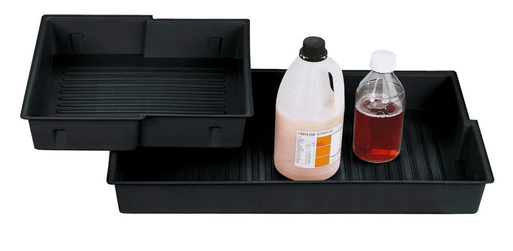 Plastic polyethylene (PE) inliner for spillage decking for chemicals cabinet Comfort, type B