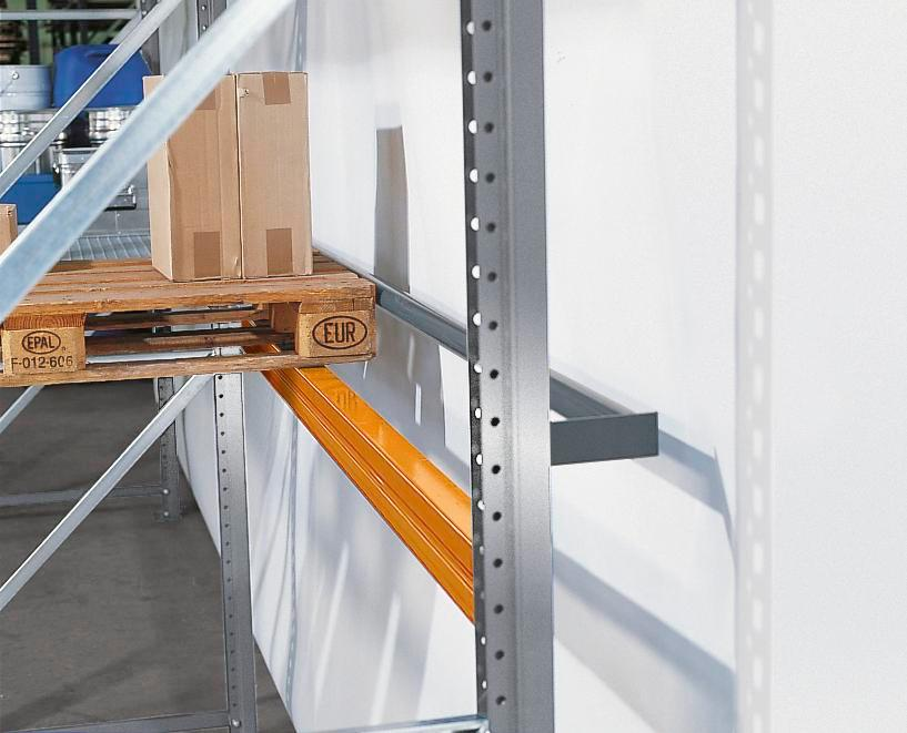 Safety bar for pallet shelving PO 33 - 1