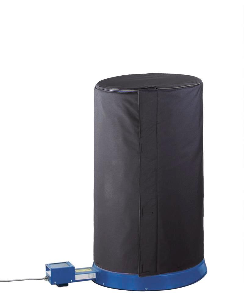 Insulating hood for 200 litre drums, made of Teflon-coated polyester, with filling valve - 1