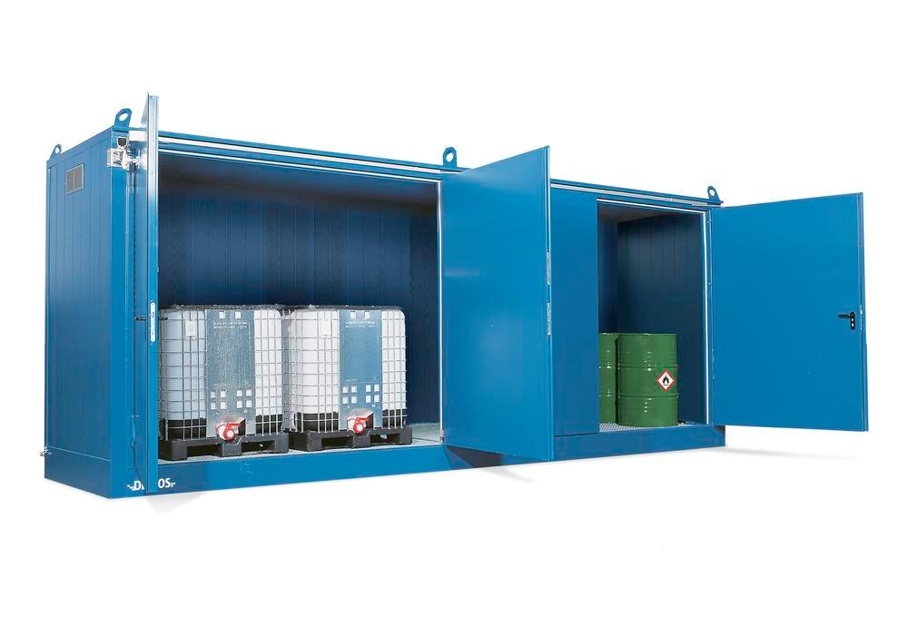 Fire protection FBM base 614.20, with EI2 90C doors, for storing up to 16 drums à 205 litres